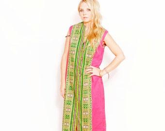 Vintage Dashiki Caftan, 70s Maxi Dress , Dashiki Kaftan