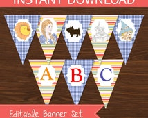 Wizard of Oz Banner DIY Printable Kit - INSTANT DOWNLOAD -