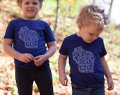 New Represent Wisconsin Blue Kid's Tee. Toddler T-Shirt Celebrates the Midwest. Made in the USA.