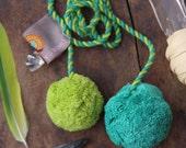 Lime & Grass Green Pom Pom Swag Cord,  Pom Pom Rope, Tassel, Decoration, Tie Back, Bohemian Fashion, Decorating Supplies, Design