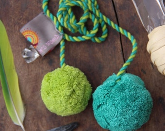 Lime & Grass Green Pom Pom Swag Cord,  Pom Pom Rope, Decoration, Tie Back, Bohemian Fashion, Decorating Supplies, Design, Purse Charm