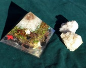 Earth Element Orgonite Pyramid - Orgone Energy Generator - Earth Connection-Earth Energy-Grounding-Animal and Plant and Tree Medicine