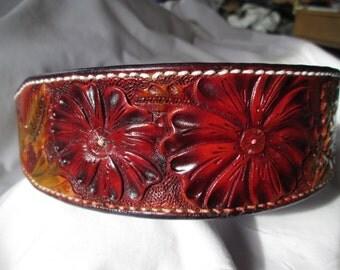 Large leather dog collar 126, large collars , pitbull collars, GSD collars , custom collars