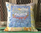 Sampler Chalkboard Style Pillow You Are My Sunshine - Made to order