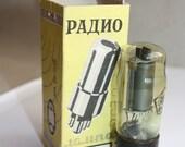 Russian Vintage Rare Radio Lamp MADE IN USSR - Vintage Treasury Item - Industrial Retro Chic Decor - Vacuum Tube