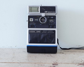 Vintage Instant Camera Kodak EK6 with Flash - 1976 to 1978