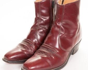 Short Men's Cowboy Boots by SEARS ROEBUCKS Size 10 EE Wide