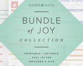 Bundle of Joy Collection 4 Editable Printable Sets of Newborn Pregnancy Planning, Baby Book Keepsake Journal, New Mom Organizer, Baby Shower
