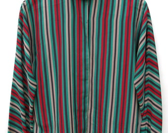 Striped Polyester Blouse