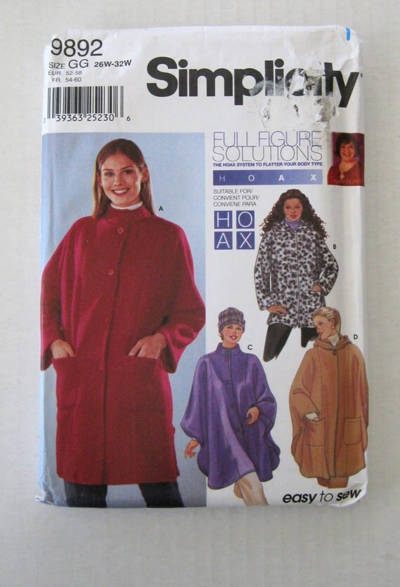 Womens Plus Size Poncho Jacket &amp Hat Pattern by QuiltCitySue