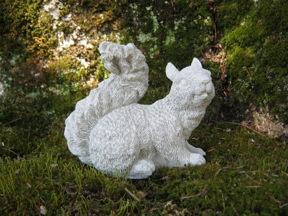 Squirrel Statue Concrete Squirrel Figure Squirrel Garden