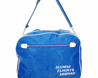 Vintage Vinyl and Leather Alumni Airlines Messenger