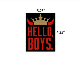 Supernatural sticker - Hello Boys crowley king of hell decal geek gift