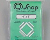 "Stitching frame Q-Snap 6"" x 6"" : counted cross stitch hardanger hand embroidery needlework hoop"