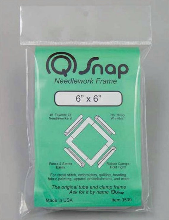 """Stitching frame Q-Snap 6"""" x 6"""" : counted cross stitch hardanger hand embroidery needlework hoop"""