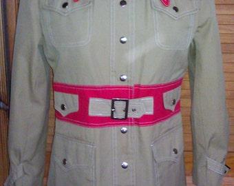 1960s Trench Coat / Safari Jacket/ Rain Coat
