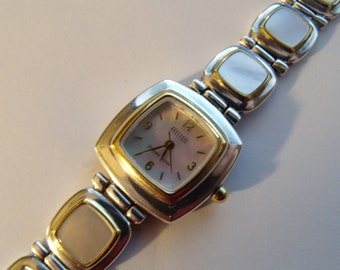 Ladies Watch Sterling Silver 925 MOP Two Tone