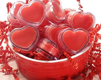 Red Heart Cotton Candy Lip Butter - Lip Gloss - Lip Balm - Gift Wrapped - VEGAN TOO!