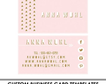 Triangles Custom Business Card Template