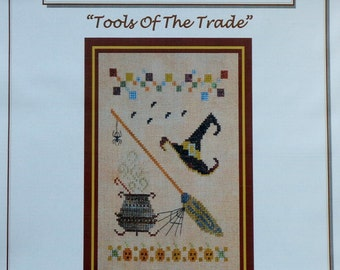 50%OFF | Turquoise Graphics & Designs | TOOLS OF The Trade | Halloween | Witch | Counted Cross Stitch Pattern | Chart