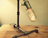 Desk Lamp — Red Brass Pipe & Fittings