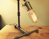 Desk Lamp — Stainless Steel Pipe & Red Brass Fittings