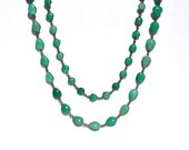Chrysoprase Tear Drop Shaped Long Necklace