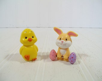 Vintage Russ Berrie Yellow Chick & Easter Bunny Collectibles - You Choose a Baby Chick or Rabbit - Shabby Cottage Chic Holiday Decor Pieces