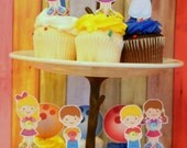 Bowling Party Cupcake Toppers Set 12