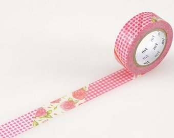 MT ex flower red Washi Tape (10M) MTEX1P54