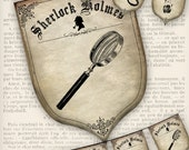 Sherlock Holmes Party Banner Detective printable party decoration instant download digital download collage sheet - VDBAVI1034