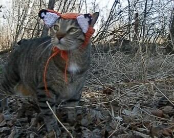 Fox Cat Hat, Crochet, Made to Order