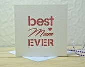 Best Mum Ever Laser Cut Card