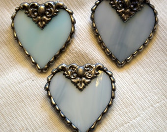 Heart (Light Blue) Stained Glass Pin / Brooch