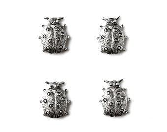Ladybug Tuxedo Shirt Studs - Shirt Buttons - Men's Jewelry - Gift Idea - Handmade - Gift Box Included