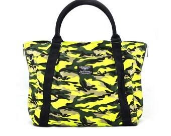 HOLLY // Neon with Black Handle / Lined with Black / 0801 // Ship in 3 days // Diaper bag / Shoulder bag / canvas bag / gym bag / Messenger