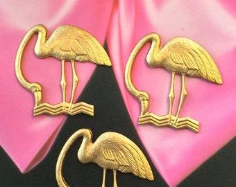 Deco Style Flamingo Charm  (2 pc)