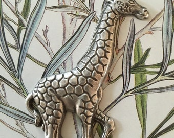 Galloping Giraffes Silver (1 pc)