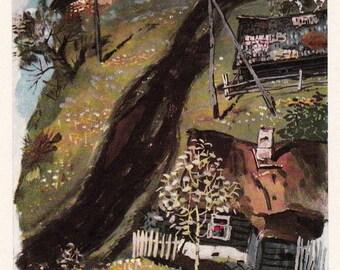 "A. Vasiliev ""Scenery Design for N. Virta's Drama"" Postcard -- 1967, Soviet Artist Publ."