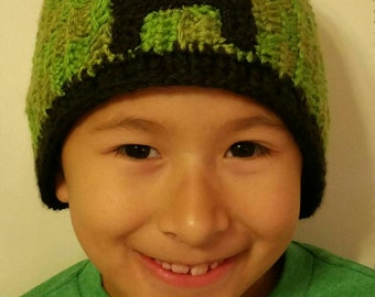 Creeper  Minecraft  crocheted Hat