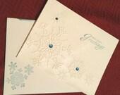 Snowflake Holiday Greetings Homemade Christmas Card