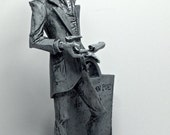 "Edgar Allan Poe Statue, 7"" Black and White"