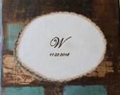 ALTERNATIVE Guest Book Wood Tree Slice Wedding Personalized Custom