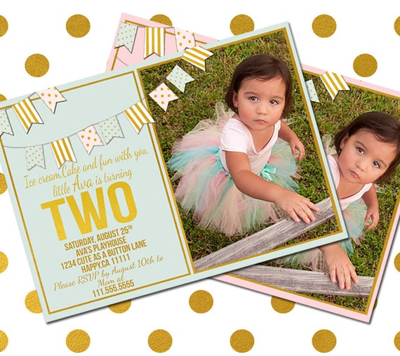 Items Similar To 2 Year Old Birthday Invitation- Two Year