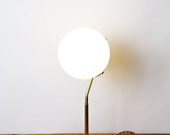 Thalia - brass and matte opal glass shade table lamp
