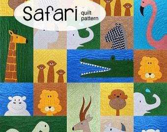 Safari - Applique Animal Quilt Pattern