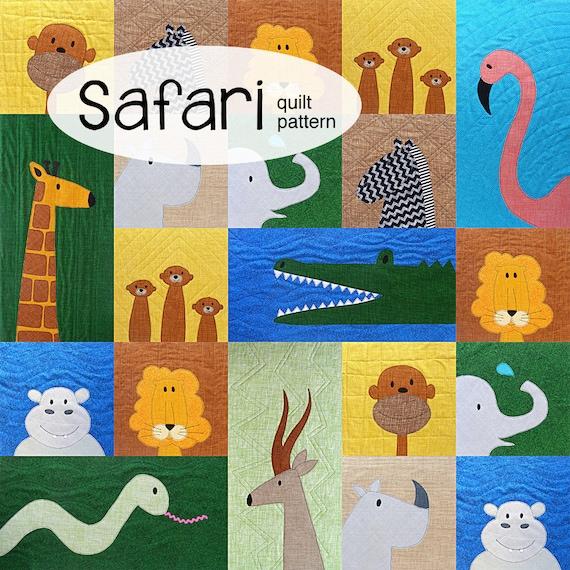 Safari Applique Animal Quilt Pattern