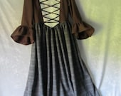 On Sale - Girl's Highland, Hobbit, Renaissance Dress With Hand-Knitted Capelet, Size 7/8, Ready To Ship Now