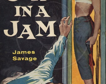 Girl in a Jam - 10x17 Giclée Canvas Print of a Vintage Pulp Paperback Cover
