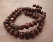 Red Sesame Jasper Round Beads